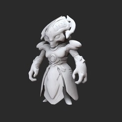 KhanMaykrWhite.jpg Download STL file Khan Maykr Doom Collectable Toy • Object to 3D print, TheSTLSmith