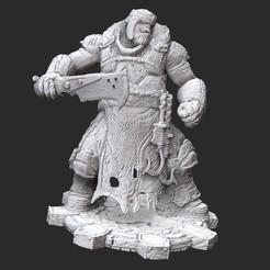 BoomerButcherWhite.jpg Download STL file Boomer Butcher Gears of War 3D Model STL File 3D Print • 3D print design, TheSTLSmith