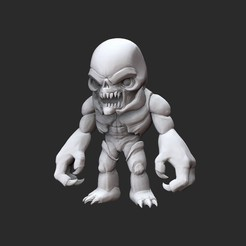 HellknightWhite.jpg Download STL file Hell Knight Doom Collectable Toy • Object to 3D print, TheSTLSmith