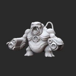 FlamecubusWhite.jpg Download STL file Mancubus Doom Collectable Toy • 3D print object, TheSTLSmith