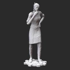AnyaG2White.jpg Download STL file Anya Stroud Operator Gears of War 3D Model STL File 3D Print • 3D printer design, TheSTLSmith