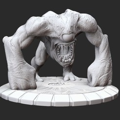 GnaarPosedWhite.jpg Download STL file Gnaar Serious Sam 3 3D Model STL File 3D Print • 3D print template, TheSTLSmith