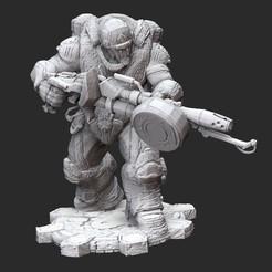 BoomerFlamerWhite.jpg Download STL file Boomer Flamer Gears of War 3D Model STL File 3D Print • 3D printing design, TheSTLSmith