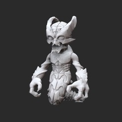 WhiplashWhite.jpg Download STL file Whiplash Doom Collectable Toy • 3D printing object, TheSTLSmith