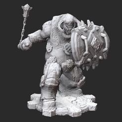 BoomerMaulerWhite.jpg Download STL file Boomer Mauler Gears of War 3D Model STL File 3D Print • 3D printing model, TheSTLSmith