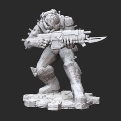 SavageDroneWhite.jpg Download STL file Savage Drone Gears of War 3D Model STL File 3D Print • Object to 3D print, TheSTLSmith