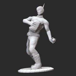 BeheadedBombermanPosedWhite.jpg Download STL file Beheaded Bomberman Serious Sam HD 3D Model STL File 3D Print • 3D printing design, TheSTLSmith