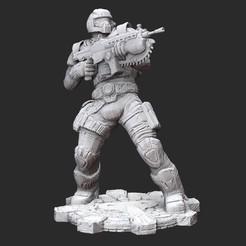 BenjaminCarmineG2White.jpg Download STL file Benjamin Carmine Winter Gears of War 3D Model STL File 3D Print • 3D printable design, TheSTLSmith