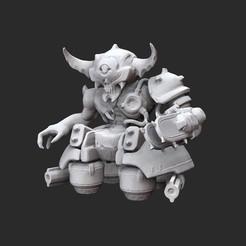 DoomhunterWhite.jpg Télécharger fichier STL Jouet de collection Doomhunter Doom • Modèle pour impression 3D, TheSTLSmith