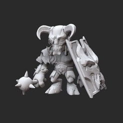 GladiatorWhite.jpg Download STL file Gladiator Doom Collectable Toy • Model to 3D print, TheSTLSmith