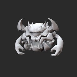 PainElementalWhite.jpg Download STL file Pain Elemental Doom Collectable Toy • 3D printable design, TheSTLSmith