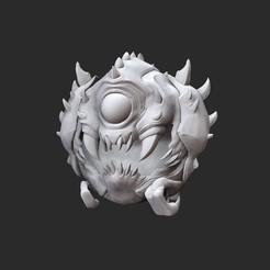 CacodemonWhite.jpg Télécharger fichier STL Jouet de collection Cacodemon Doom • Design pour impression 3D, TheSTLSmith