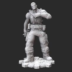 BairdWorkerWhite.jpg Download STL file Damon Baird Mechanic Gears of War 3D Model STL File 3D Print • 3D printing object, TheSTLSmith