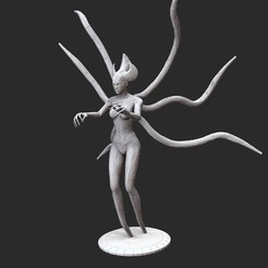 Witch-BridePosedWhite.jpg Download STL file Witch-Bride Serious Sam 3 3D Model STL File 3D Print • 3D printable model, TheSTLSmith