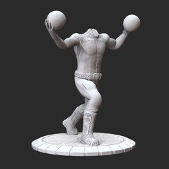BeheadedKamikazePosedWhite.jpg Download STL file Beheaded Kamikaze Serious Sam HD 3D Model STL File 3D Print • 3D print design, TheSTLSmith