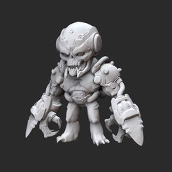 DreadknightWhite.jpg Download STL file Dread Knight Doom Collectable Toy • 3D print template, TheSTLSmith