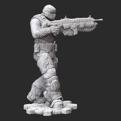 COGRedshirtWhite.jpg Download STL file COG Redshirt Gears of War 3D Model STL File 3D Print • 3D print template, TheSTLSmith