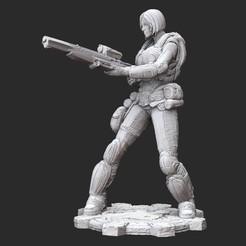 AnyaWhite.jpg Download STL file Anya Stroud Summer Gears of War 3D Model STL File 3D Print • 3D print object, TheSTLSmith
