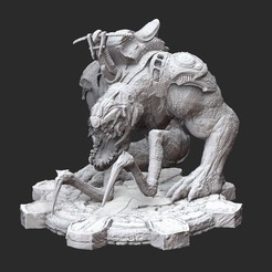BloodmountWhite.jpg Download STL file Bloodmount Gears of War 3D Model STL File 3D Print • 3D printable model, TheSTLSmith