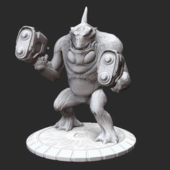 ZumbulPosedWhite.jpg Download STL file Zumbul Serious Sam HD 3D Model STL File 3D Print • Design to 3D print, TheSTLSmith