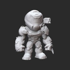 DoomslayerWhite.jpg Download STL file Doom Slayer Doom Collectable Toy • 3D print model, TheSTLSmith