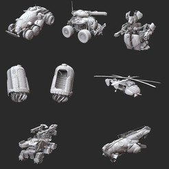 GearsOfWarVehiclesSetSmall.jpg Download STL file Complete Vehicle Set Gears of War 3D Model STL File 3D Print • 3D printing object, TheSTLSmith