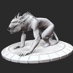 CaveDemonPosedWhite.jpg Download STL file Cave Demon Serious Sam 3 3D Model STL File 3D Print • 3D print object, TheSTLSmith