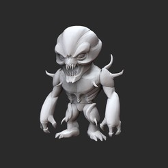 ImpWhite.jpg Download STL file Imp Doom Collectable Toy • Object to 3D print, TheSTLSmith