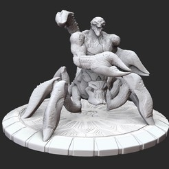 ArachnoidLargePosedWhite.jpg Download STL file Arachnoid Large Serious Sam 3 3D Model STL File 3D Print • Design to 3D print, TheSTLSmith