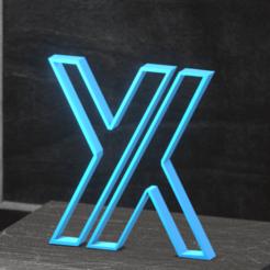 LOGO 3D Render 1.png Télécharger fichier STL gratuit Abstract X Letter • Objet pour impression 3D, matheusmonnerat