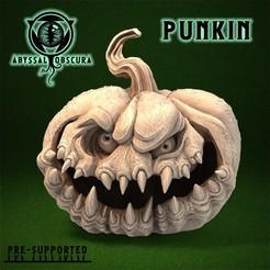 ShopImage_Punkin_Front.jpg Télécharger fichier STL Punkin - Citrouille Halloween Jack o Lantern • Plan pour imprimante 3D, AbyssalObscura
