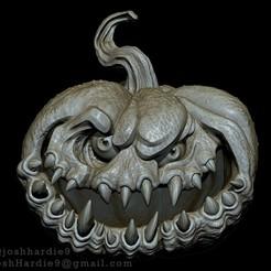 Front.jpg Télécharger fichier STL Punkin - Citrouille Halloween Jack o Lantern • Plan pour imprimante 3D, joshhardie9