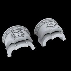 Sehkmet_Preview.jpg Download free STL file Renegade Relic Scarab Heavy Shoulderpads • 3D printing object, delta_sierra_sierra