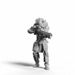 kolossmarksmen man1-4.jpg Download STL file Infantry- Koloss Marksman Team • 3D printer object, Biophominiatures