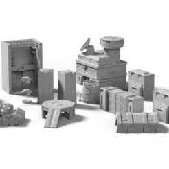 Basebuilding1.jpg Download STL file Base Building Pack (.STL and .OBJ) • 3D printable object, Biophominiatures