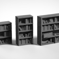 Bookshelf1.jpg Download STL file Bookshelves (.STL & .OBJ) • 3D printer design, Biophominiatures