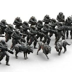 keyshotStoreStandard.1176.jpg Download STL file Infantry Platoon- Koloss • 3D print model, Biophominiatures