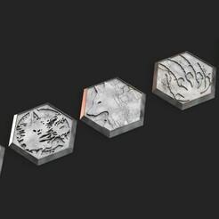 desertterrain.1215.jpg Télécharger fichier STL Bases hexagonales - Hexs de l'esprit du loup • Objet imprimable en 3D, Biophominiatures