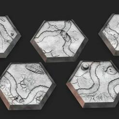 desertterrain.1205.jpg Télécharger fichier STL Bases hexagonales - Hexagones du désert • Modèle à imprimer en 3D, Biophominiatures