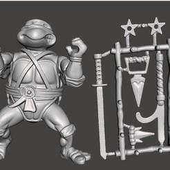 01_LEONARDO.jpg Télécharger fichier STL LEONARDO VINTAGE TMNT ( TORTUES NINJA MUTANTES ADOLESCENTES ) COMPLET • Plan à imprimer en 3D, MisJuguetes