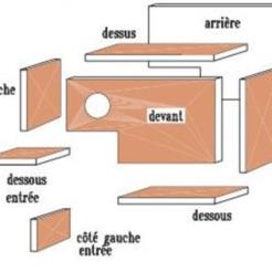 Plan.png Télécharger fichier STL Maison pour Diamant de Gould - gouldian diamond House • Objet à imprimer en 3D, tweety35
