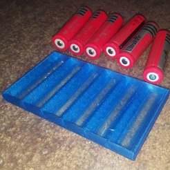 18650_tray_3.jpg Télécharger fichier STL gratuit Plateau de batterie 18650 • Plan pour imprimante 3D, Old-Steve