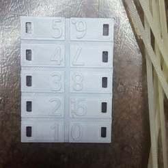 numbers01.jpg Download free STL file wire number tags • 3D printable model, Old-Steve