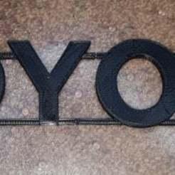 toyota01.jpg Download free STL file TOYOTA badge • 3D printer template, Old-Steve