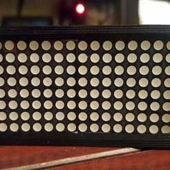 2X8X8-1.jpg Download free STL file 8X8 LED array (X2) • 3D printer template, Old-Steve