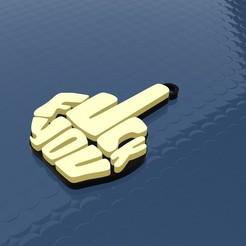 Up.jpg Download STL file Fuck You Necklace - Key Chain • 3D print design, ManuC