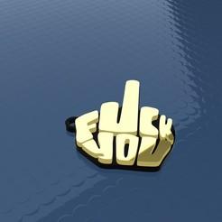 """nero.jpg Télécharger fichier STL COLLIER """"FUCK YOU"""" - PORTE-CLÉS • Design imprimable en 3D, ManuC"""