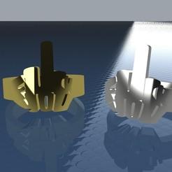 FUChhK NO BASE.jpg Download STL file Fuck You Ring • Template to 3D print, ManuC