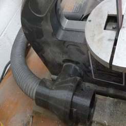 P1070889.JPG Télécharger fichier SCAD gratuit Chester MM493A Linisher - Raccord du système d'extraction de poussière rLab • Design imprimable en 3D, Steve_rLab