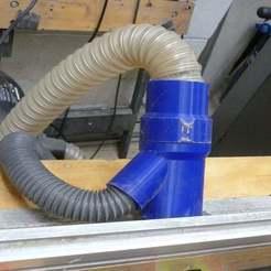 P1070893.JPG Télécharger fichier SCAD gratuit Table de routage - montage du système d'extraction de poussière rLab • Design pour impression 3D, Steve_rLab
